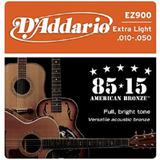 DADDARIO Senar Gitar Great American Bronze Extra Light Acoustic Guitar Strings [EZ-900]